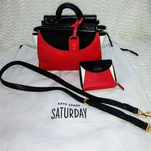 Kate Spade Mimi Satchel colorblok bag&wallet